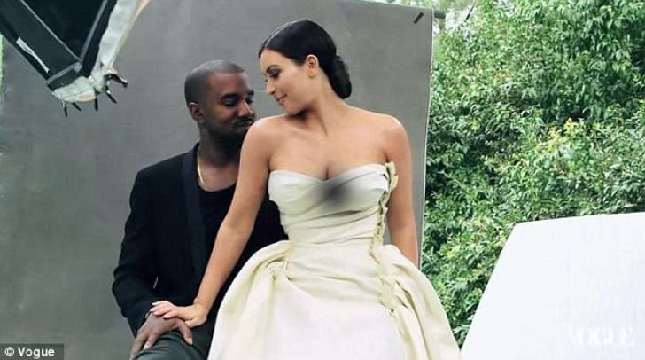 Kim Kardashian şi Kanye West, pe coperta Vogue