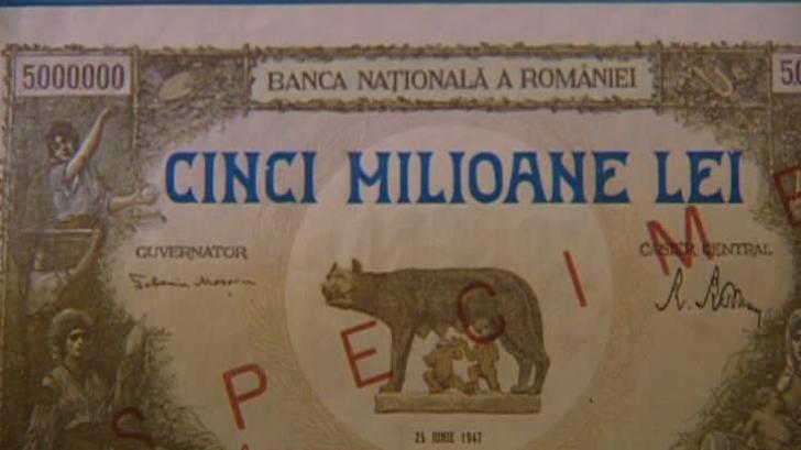 Cea mai mare valoarea a unei bancnote în România: 5 milioane lei