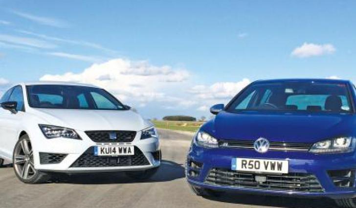 Volkswagen Golf R vs. Seat Leon Cupra. Pe cine pariezi?