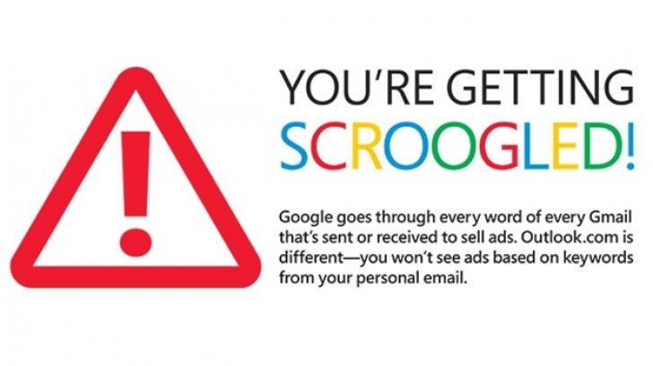 NU doar Google îţi citeşte mailurile fara acordul tău, ci şi MICROSOFT