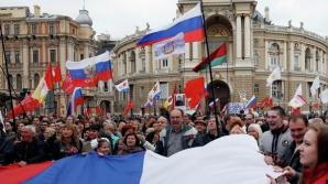 Manifestaţie pro-rusă în Odessa