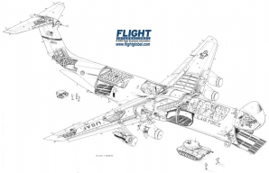 <p>Lockheed C-5 Galaxy, un avion care poate transporta o încărcătură de până la 122 de tone</p>