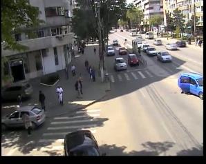 Accident surprins de camerele de supraveghere, în Brăila