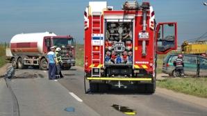 Două persoane au fost rănite în urma unui accident în Timiș