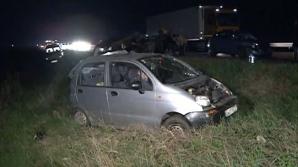 ACCIDENT ÎN LANŢ pe autostrada A1: 4 răniţi