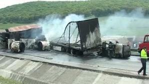 TRAGEDIE la Cluj: doi şoferi de TIR au murit CARBONIZAŢI