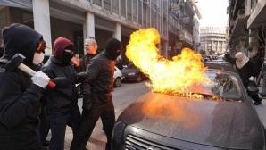 GREVĂ GENERALĂ cu manifestaţii şi perturbarea transporturilor în Grecia