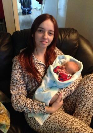Sophie Aldridge a născut fără să ştie că e însărcinată