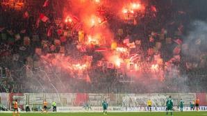 Incident incredibil în Polonia: fan transformat în torţă vie de poliţist
