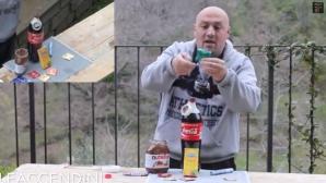 Ce face un om cu un prezervativ, o cola, Nutella şi Mentos