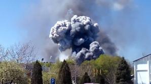 Explozii la Kramatorsk, după prăbuşirea unui elicopter al armatei