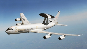 Aeronavele AWACS desfăşoară misiuni de supraveghere aeriană, inclusiv deasupra României