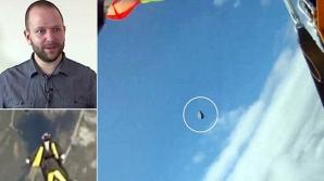 Norocul unui paraşutist care a fost la un pas de ciocnirea cu un meteorit