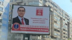 EUROPARLAMENTARE 2014. PONTA a furat startul. Panourile electorale au împânzit Ploieştiul / Foto: evz.ro