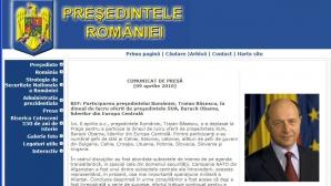 """STS: Site-ul oficial al Preşedinţiei României nu a fost """"spart"""" niciodată"""