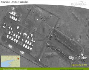 Imagini din satelit cu trupele ruse masate la graniţa ucraineană