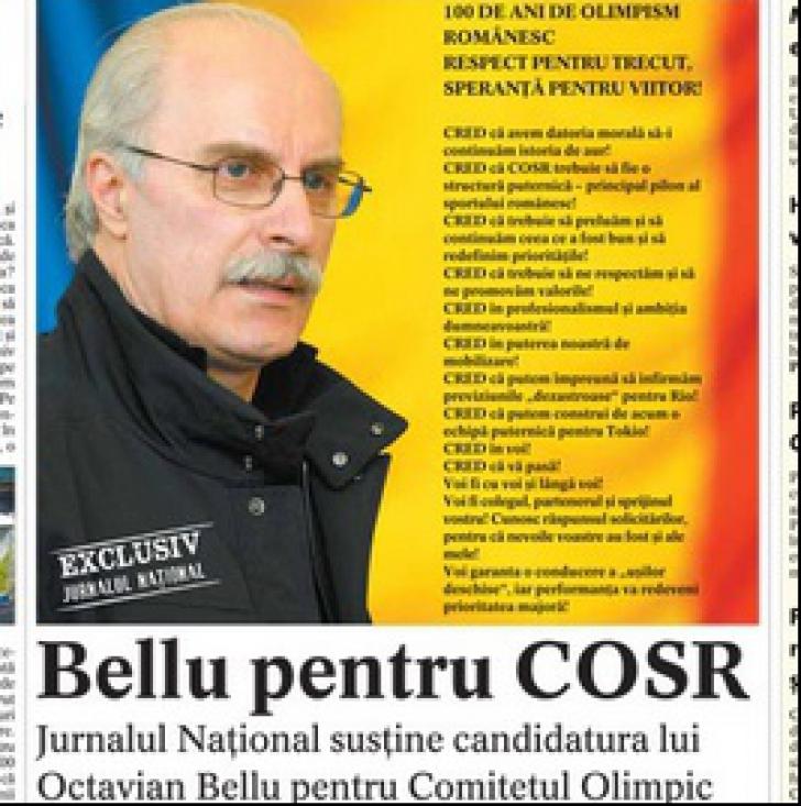 Voiculescu și Țiriac îi fac campanie pe față lui Octavian Bellu pentru șefia COSR