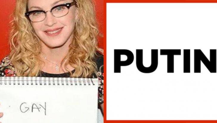 Madonna l-a descris astfel pe Vladmir Putin