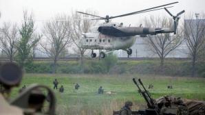 Elicopter militar ucrainean, doborât de separatiștii din Slaviansk
