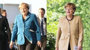 Angela Merkel, înainte și după dietă. Foto: BILD
