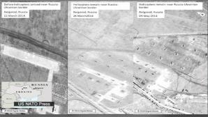 Imagini din satelit, prezentate în urmă cu o săptămână, care arată prezenţa trupelor ruse la graniţa ucraineană