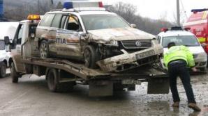 Accident cu maşina Poliţiei în Capitală