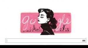 AUDREY HEPBURN, celebrată de GOOGLE cu un logo special