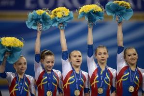 AUR și mai multe medalii de ARGINT și BRONZ pentru echipa națională de gimnastică la CE de la Sofia