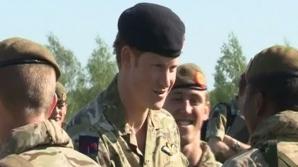 Prinţul Harry a asistat la exerciţii militare NATO în estul Estoniei