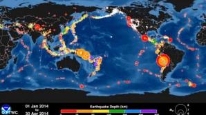 În luna aprilie 2014, au avut loc 13 cutremure majore.