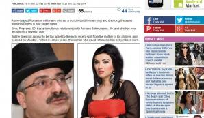 Silviu Prigoană şi Adriana Bahmuţeanu, în Daily Mail