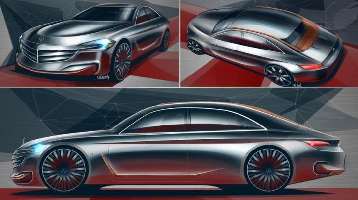 Mercedes-Benz U-Class? Cum își imaginează un student la design un model de lux superior Clasei S
