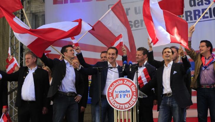 Partidul Libertăţii, de extremă dreaptă, a înregistrat un scor bun în Austria