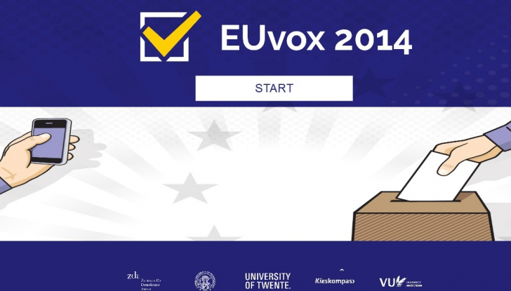 EUVOX 2014, aplicaţia care îţi spune ce partid îţi reprezintă cel mai bine interesele