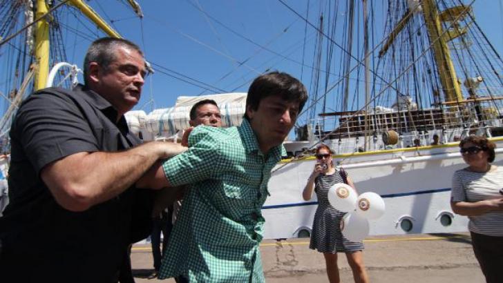 Bărbatul care l-a scuipat pe Băsescu, EXPERTIZAT PSIHIATRIC