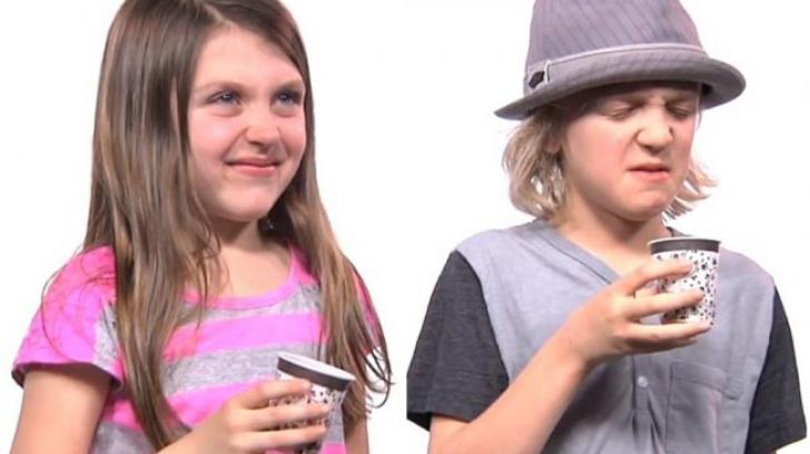 Reacţia adorabilă a unor copii care gustă pentru prima oară cafea.