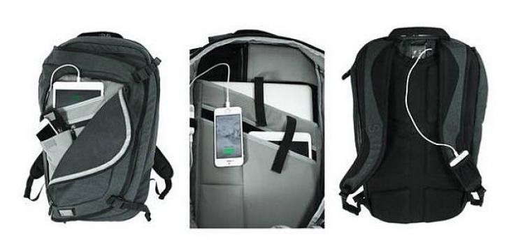 Rucsacul smart, un rucsac dotat cu baterie și HDD de 500 GB