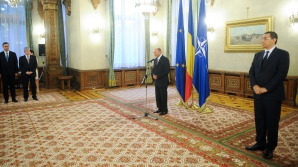 PRIMA ÎNTÂLNIRE Băsescu-Ponta după scandal: Ioan Rus a depus jurământul la Cotroceni