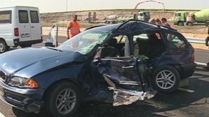 Cinci persoane, între care trei copii, au fost rănite într-un accident produs pe Autostrada Soarelui