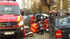 Un mort şi un rănit grav, într-un accident petrecut la intrarea în Gherla