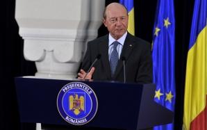 TRAIAN BĂSESCU, declaraţii de presă la Cotroceni