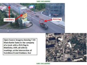 <p>NATO publica fotografii cu tancurile rusesti care ar fi intrat in Ucraina</p>