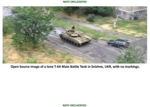 NATO publica fotografii cu tancurile rusesti care ar fi intrat in Ucraina