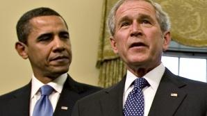 """Obama şi Bush, la acelaşi nivel de """"simpatie populară"""""""