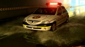 Pasajul Unirii, inundat
