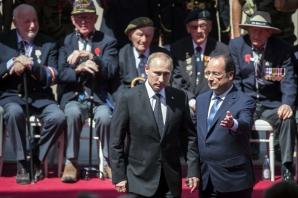 Putin îi este recunoscător lui Hollande pentru ceremoniile de sărbătorire a Debarcării din Normandia