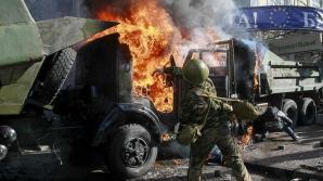 Atac cu obuze asupra unui spital din centrul oraşului Doneţk