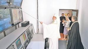 Patriarhul a sfinţit studiourile TV cu trafaletul