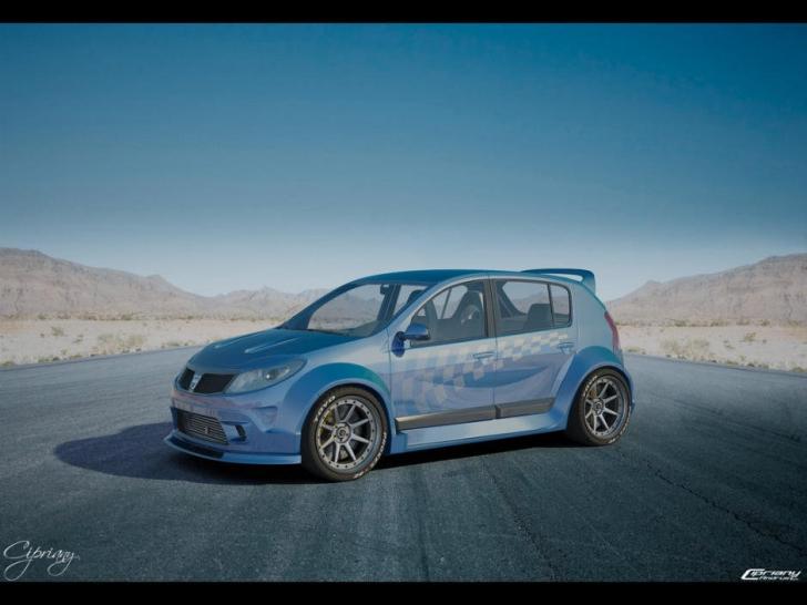 Dacia Sandero GTI! Cum ar putea arăta Dacia Sandero cu 200 CP!