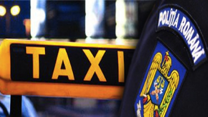 Taximetrişti, amendaţi de poliţişti